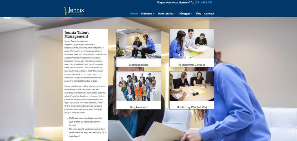 Internetstrategie en website – Jennix
